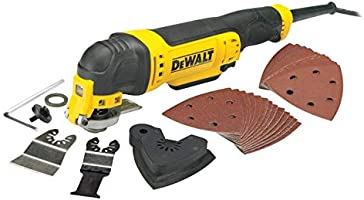 DEWALT DWE315-QS DWE315-QS-Multi-herramienta Oscilante 300W, Nero