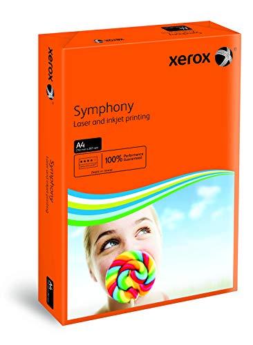 Xerox 003R94276 gekleurd printpapier kopieerpapier Symphony intensief DIN A4, 160 g/m2, 250 vellen per pak, oranje