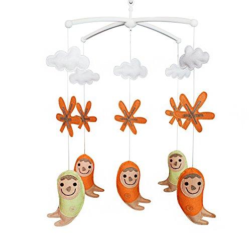 Jouets éducatifs Décor de chambre de bébé Décoration de lit d'enfant Nouveau cadeau de naissance Mobile musical doux pour 0-1 ans (Flocon de neige)