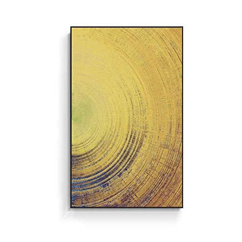 Décorations quotidiennes Peinture nordique abstraite à jet d'encre Peinture décorative Noir Cadre PS Imperméable Anti-décoloration Facile à nettoyer et facile à installer Peintures minimalistes mo