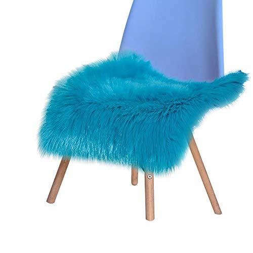 Monbedos Zitkussen voor binnen, kunstwol, 1 stuks, mat voor stoel, sofa, zitkussen voor buiten, gestoffeerd, zitkussen, zeeblauw 30 * 30 cm 30 x 30 cm.