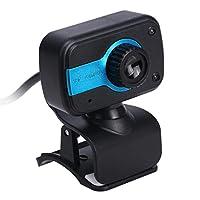 KESOTO USB2.0回転可能なHD480Pウェブカメラビデオウェブカメラマイク付き - 青い