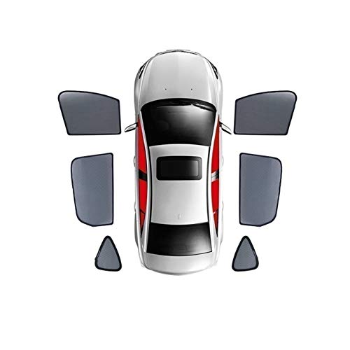 Para Mercedes-benz Vito V260 W447 W639 W463 GLK X164 / Cortina magnética especial cortina parasol de malla para ventana totalmente cubierta 2016 – 2020 (color: 6 ventanas laterales, tamaño: 2019)