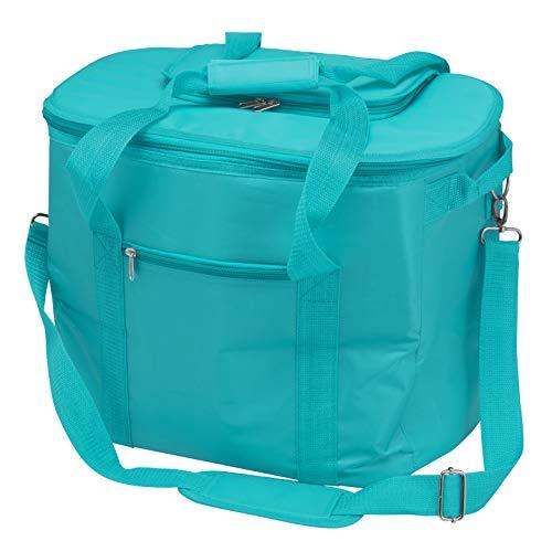 bremermann Kühltasche faltbar, Isoliertasche Picknicktasche 35 Liter Volumen (Blau)