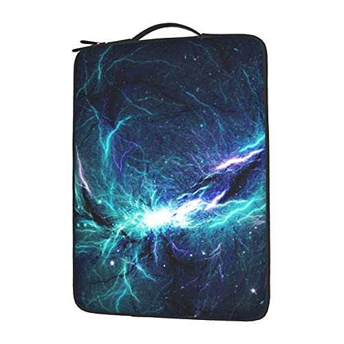Novelty Laptop Sleeve Polyester Computer Carrying Bag Universe Galaxy Stranger Lightning Things 15.6 Inches, Durable Zipper Laptop Case Briefcase Compatible with Notebook Ultrabook
