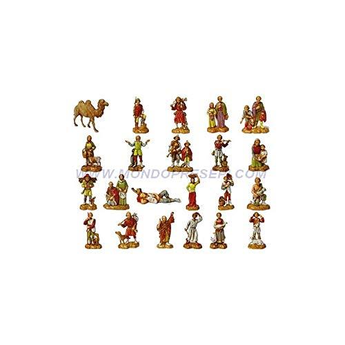 Generico 21 Personaggi + Cammello Cm 3,5 -Statue Presepe Landi Moranduzzo