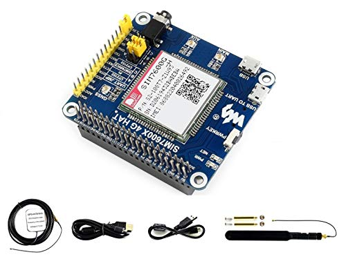 IBest waveshare 4G / 3G / 2G / GSM/GPRS/GNSS HAT for Raspberry Pi, Jetson Nano,Based on SIM7600G-H, Support LTE CAT4, 4G Connection, Global Positioning