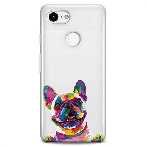 Cavka TPU Case Replacement for Google Pixel 5 XL 4a 5G Top Cover 2 XL 3 XL 3a XL 4 XL Cute French Bulldog Flexible Silicone Print Colored Dog Design Slim fit Soft Cute Funny Animals Clear Girls Paws