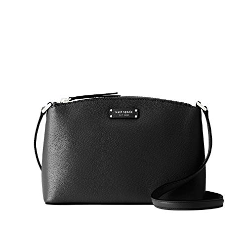 Kate Spade New York Embossed Leather with Gold Toned Hardware Top Zip Closure; Adjustable Strap with Maximum Drop of Approximate 23 inches Full Length Slip Pocket in Back Interior Features Custom Fabric Lining and 1 Slip Pocket Approximate Dimensions...