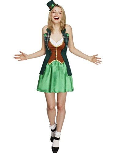 Smiffys Costume Fever de St Patrick, avec Veste, Jupon attachés, Jupe et Mini-Chapeau