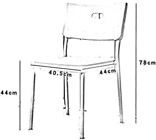 chaise FHW Diverses Situations Design Ergonomique Différence légère Couleur Belle Apparence Plastique Matériaux Normal Plastique + Phenomenon Steel Pipe (Color : Black) White