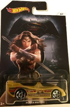 Batman Vs Superman Hot Wheels - Power Pistons Wonder Woman - DC Comics Exclusive Collectible #6 by Hot Wheels Toy Cars
