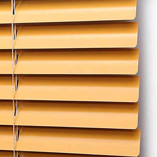 JLXJ Veneziana Alluminio Arancione Impermeabile Veneziane, 80/100/120/140 Largo, Privacy Blackout Tendine Parasole, per Home Office Windows (Size : 80×180cm(31.5×70in))