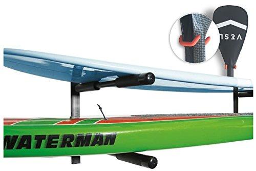 Capacidad de peso máximo de 100 libras-y tiendas de cualquier estilo de paddle o SUP Almacena hasta (2) tablas de paddle o de surf del suelo y fuera del camino. Llevará a cabo aún más si hay espacio entre el espacio y en la parte superior Fácil de in...