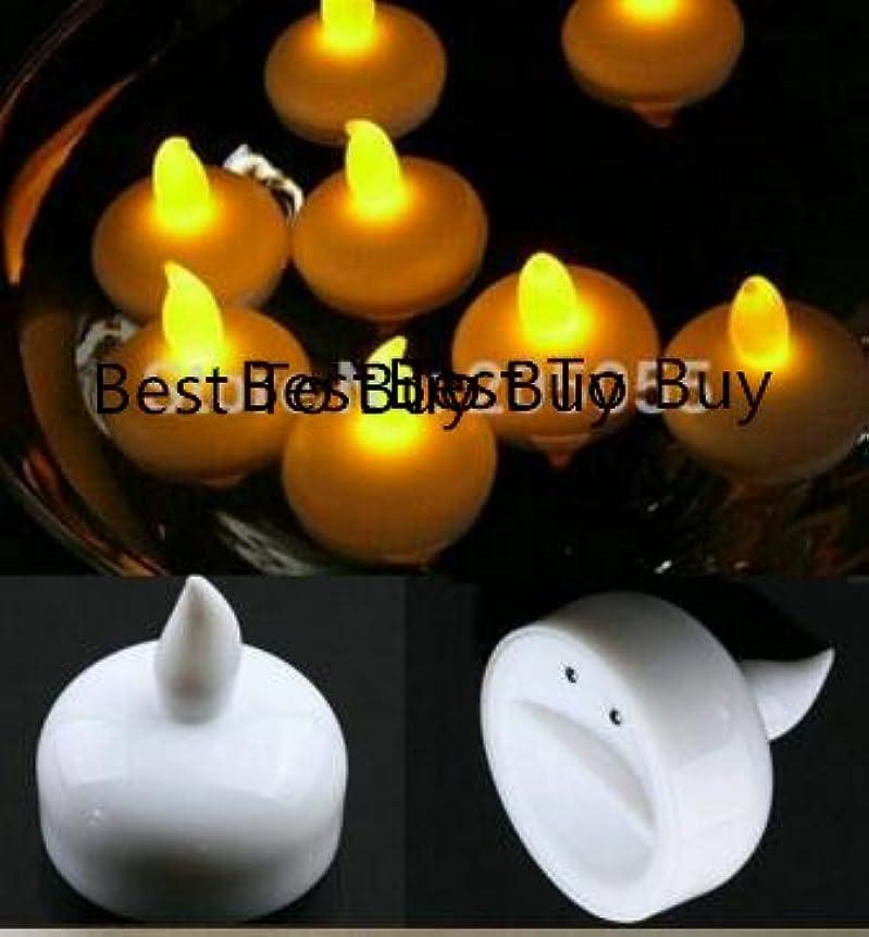 取り出す有害治安判事Best to Buy 24パックFlameless LED防水フローティングLED Tealight Candles with乾電池式パーティーバス水泳プールウェディングXmas Holiday Party Centerpiece decor-warmホワイト