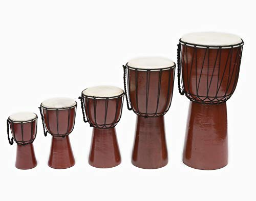 B.N.D TOP Drums Djembe Drum Djembe jembe is a Rope- Goat Skin Covered Goblet Drum Played with Bare Hands Originally from West Africa (6×12)