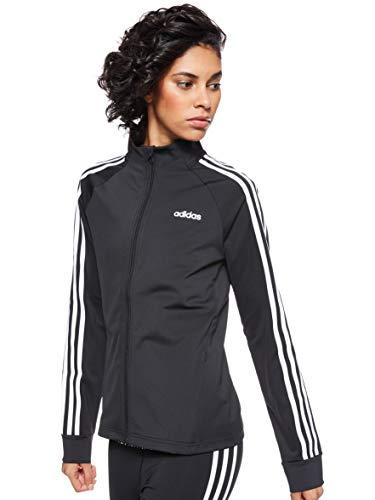 adidas W D2M 3S TT Sweatshirt, Mujer, Black/White, S