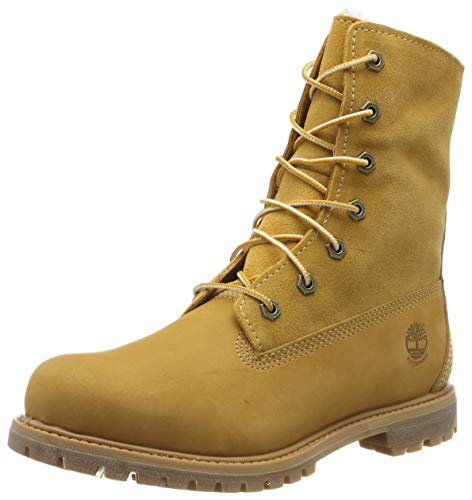 Timberland Authentics FTW_Authentics Teddy Fleece WP Fold Down 8329R, Damen Stiefel, Gelb (Wheat), EU 38.5 (US 7.5)