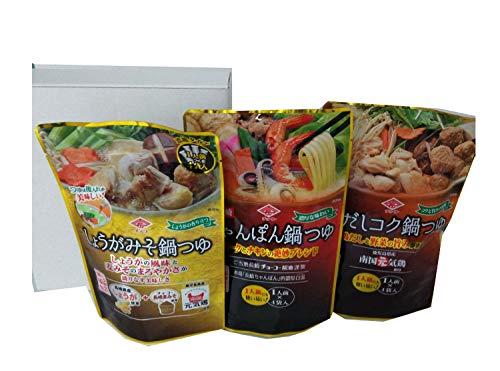 【セット商品】チョーコー醤油 鍋つゆアソート(しょうが・ちゃんぽん・鶏コク) 360ml