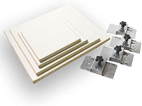 4pc Square Platen 2021 new Regular dealer Kit with Screen Printing for Brackets