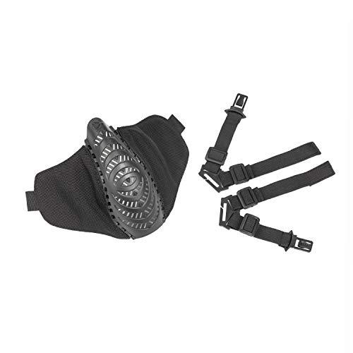 OneTigris X Division SIX T'Farge® Airsoft Faltbare halbe Maske Mesh Gesichtsmaske |MEHRWEG Verpackung (Schwarz)