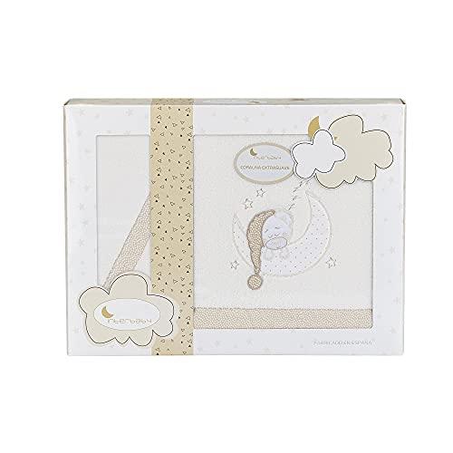 Sábanas de Coralina para minicuna Bear Sleeping, en beige