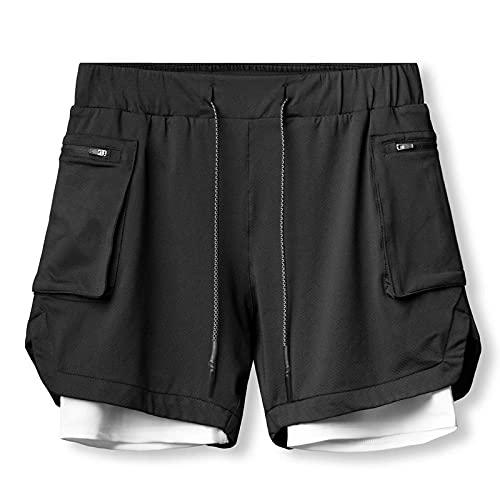 ShFhhwrl Pantaloncini Comodi e Traspiranti Pantaloncini da Uomo Pantaloncini da Corsa Uomo Camouflage Palestra Pantaloncini Sportivi F