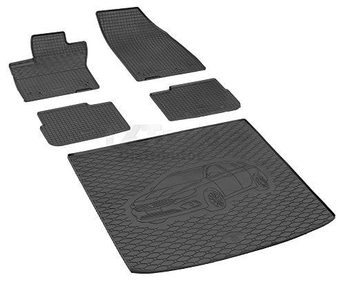 Passende Gummimatten und Kofferraumwanne Set geeignet für FIAT Tipo Kombi ab 2017ein Satz + Gurtschoner