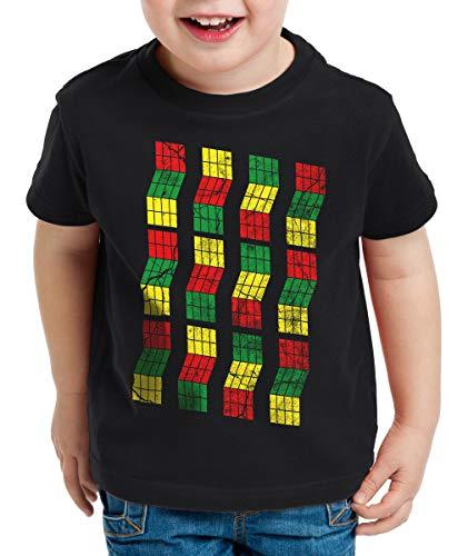 style3 Sheldon Cubo Camiseta para Niños T-Shirt, Color:Negro, Talla:164