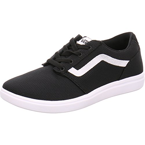VANS CHAPMAN LITE A38J3ISJ black nero scarpe bambino sneakers light tessuto 37