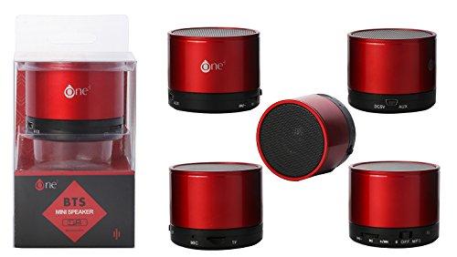 One Plus 801229 - Mini Altavoz con Bluetooth, Color Rojo