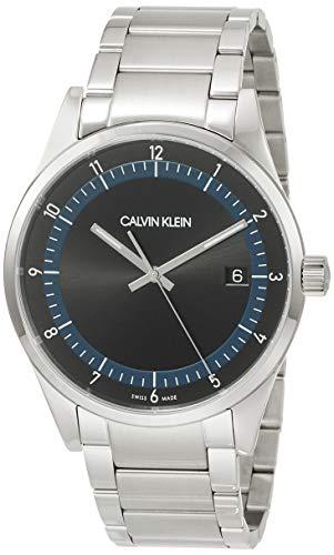 Calvin Klein Reloj analógico de cuarzo para hombre, talla única, plateado, 32012766