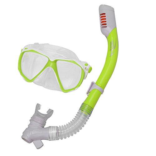 Cloudbox Kinder Schnorchel Set-Kinder Schnorchel Maske Kieselgel Explosionsgeschütztes Anti-Nebel-tauchbrillen (gelb) -Schwimmen