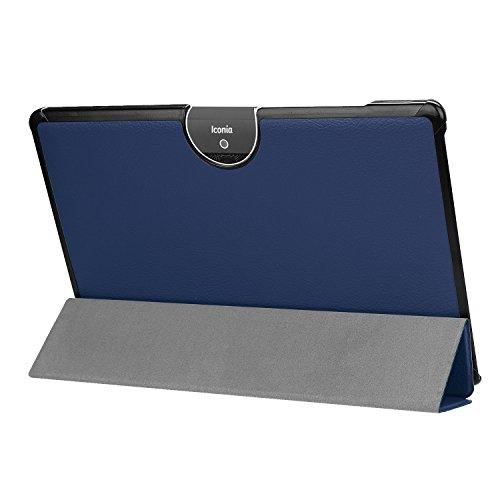 Kepuch Custer Hülle für Acer Iconia Tab 10 A3-A50,Smart PU-Leder Hüllen Schutzhülle Tasche Hülle Cover für Acer Iconia Tab 10 A3-A50 - Blau