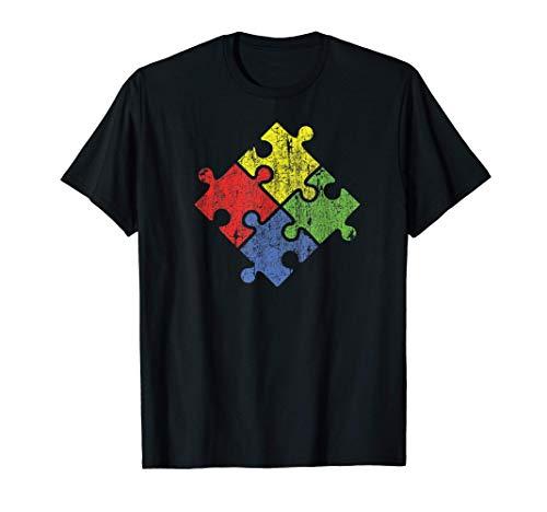 Autismo Puzzle  Vintage Camiseta