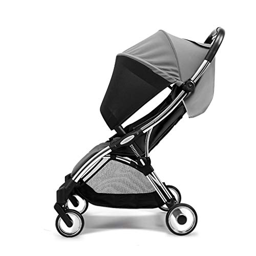Best Bargain Stroller Stroller Four-Wheel Shock Absorption Portable Folding Baby Stroller One-Button...
