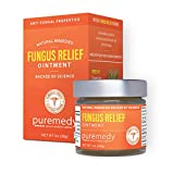 Puremedy Fungus Relief Salve for Skin and Nails - Homeopathic Remedy to Relieve Minor Skin Wounds, Superficial Burns, Swelling and Itching (1oz)