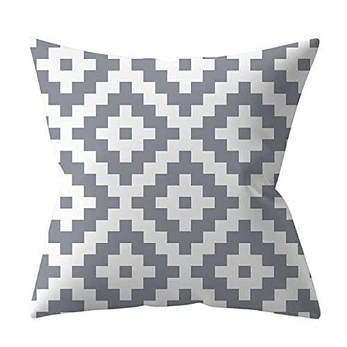 Chrty Funda de cojín 2 unids/Set Funda de Almohada con patrón geométrico Gris Adecuada para decoración del Coche del sofá del Dormitorio del hogar al Aire Libre 45 * 45 Cm