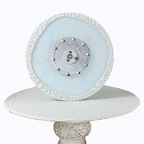 SYLC Mantel redondo impermeable antideslizante, mantel redondo para mesa circular, protector de mesa redondo resistente al calor y fácil de limpiar (rejilla verde, 130 cm)