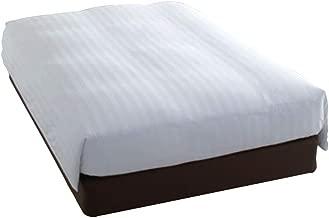 デュベ 仕様 ホテル 羽毛 ベッドカバー(デュベタイプ) PS シングルサイズ(デュベカバー + 羽毛インナーセット)お色柄 ; 白ストライプ(最も人気)日本製。