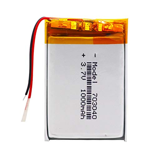 RFGTYH 3.7v 1000mAh Li-po Battery 703040 Rechargeable Lithium Batteries For LED Light MP3 MP4 Cell Phone DVD Laptop Power Bank 1piece