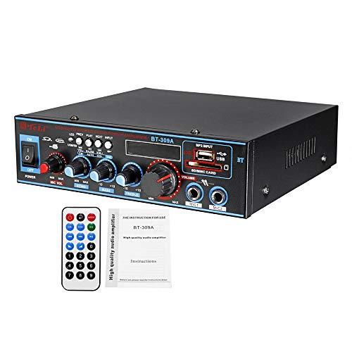 800W Audioendverstärker 2-Kanal-Heimkino-Verstärker Audio HiFi mit Fernbedienung Unterstützung FM USB-SD-Karte Bluetooth