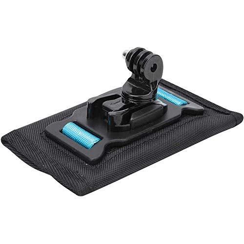 Yuyanshop Accesorios de cámara deportiva antideslizantes duraderos para mochila con clip para correa de hombro, rotación de 360 grados, mochila con gancho y bucle