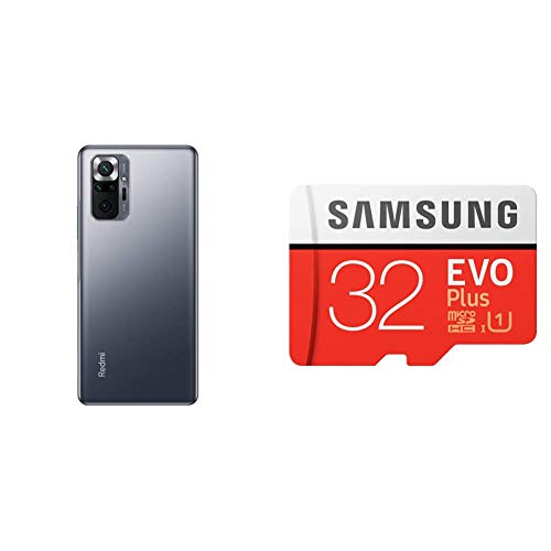 [SDカードセット]Xiaomi Redmi Note 10 Pro 6+128GB オニキスグレー+Samsung EVO Plus 32GB microSDHC【日本正規代理店品】