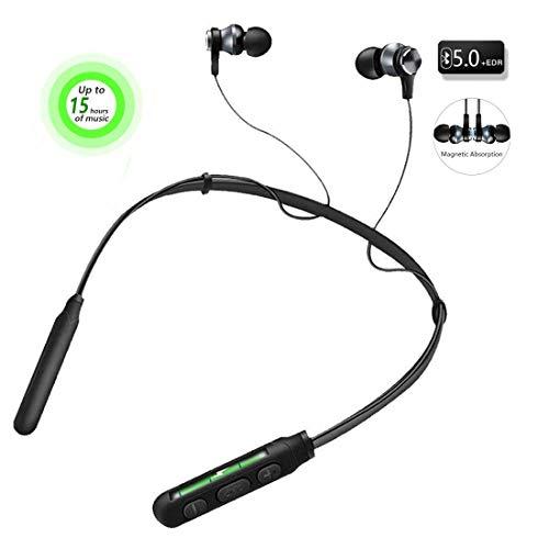 Audífonos Bluetooth, V5.0 In-Ear Auriculares Inalámbricos 15 horas de batería de Encendido y Apagado…