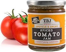TBJ Gourmet Spiced Tomato Jam - Spicy Tomato Jam - Spicy Tomato Ketchup Alternative - Sweet, Savory & Spicy Tomato Spread & Jam Preserves - Vegan, Gluten Free Jam - 9 Ounces