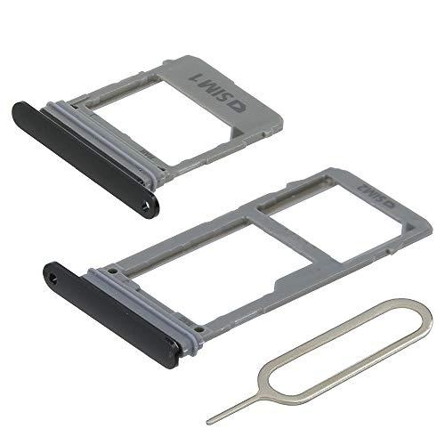 MMOBIEL Set 1 Tarjeta SIM y 1 Bandeja de Tarjeta SD Compatible con Samsung Galaxy A8 / A8 Plus (Negro) Incl. Sim Pin