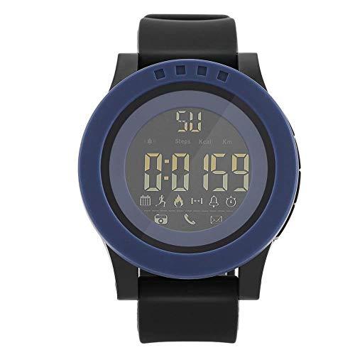DAUERHAFT Reloj Deportivo Digital de 3 Colores, 30 Metros a Prueba de Agua, Compatible con Bluetooth, recordatorio de Llamadas y Aplicaciones, para Regalo o Uso Personal(Azul)