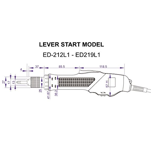 Electric Torque Screwdriver, Torque range 2.6-16.7 in-lb, Push-to-Start (Auto Stop Clutch), RPM 1000, Sumake ED-219P1