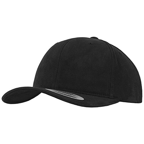 Flexfit Brushed Cotton Twill Mid-Profile Kappen, Black, one Size